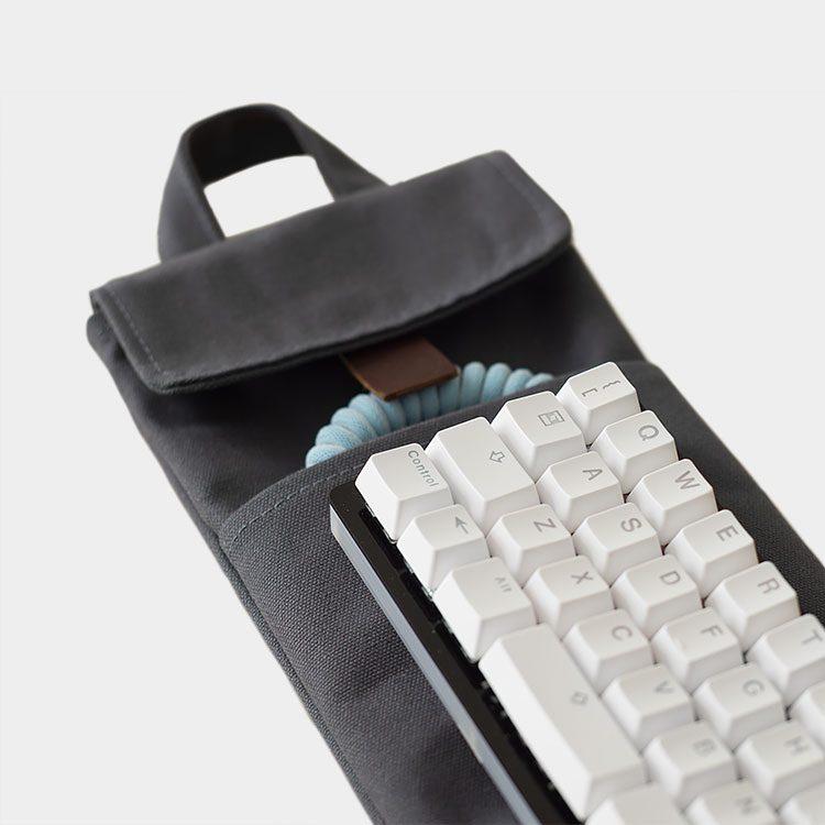 40% Mechanical Keyboard Sleeve / Case in Charcoal Grey