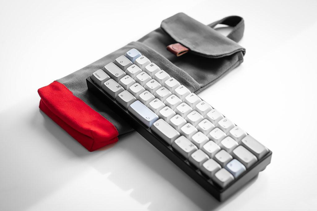 Custom 40% Charcoal Grey + Red 40% Mechanical Keyboard Sleeve