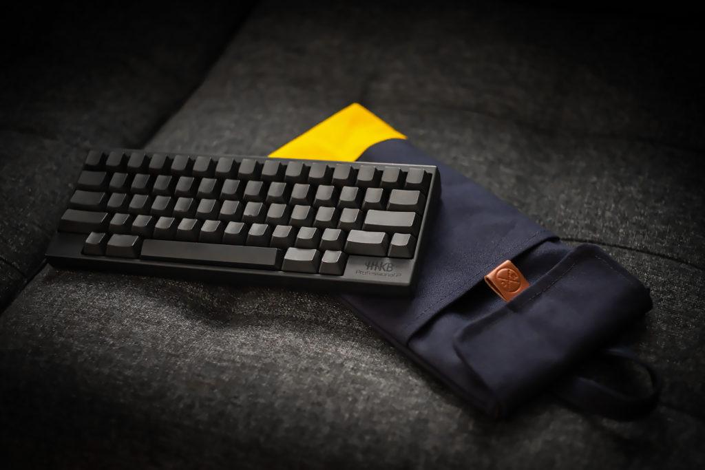 Custom 60% Midnight Blue + Yellow Mechanical Keyboard Sleeve